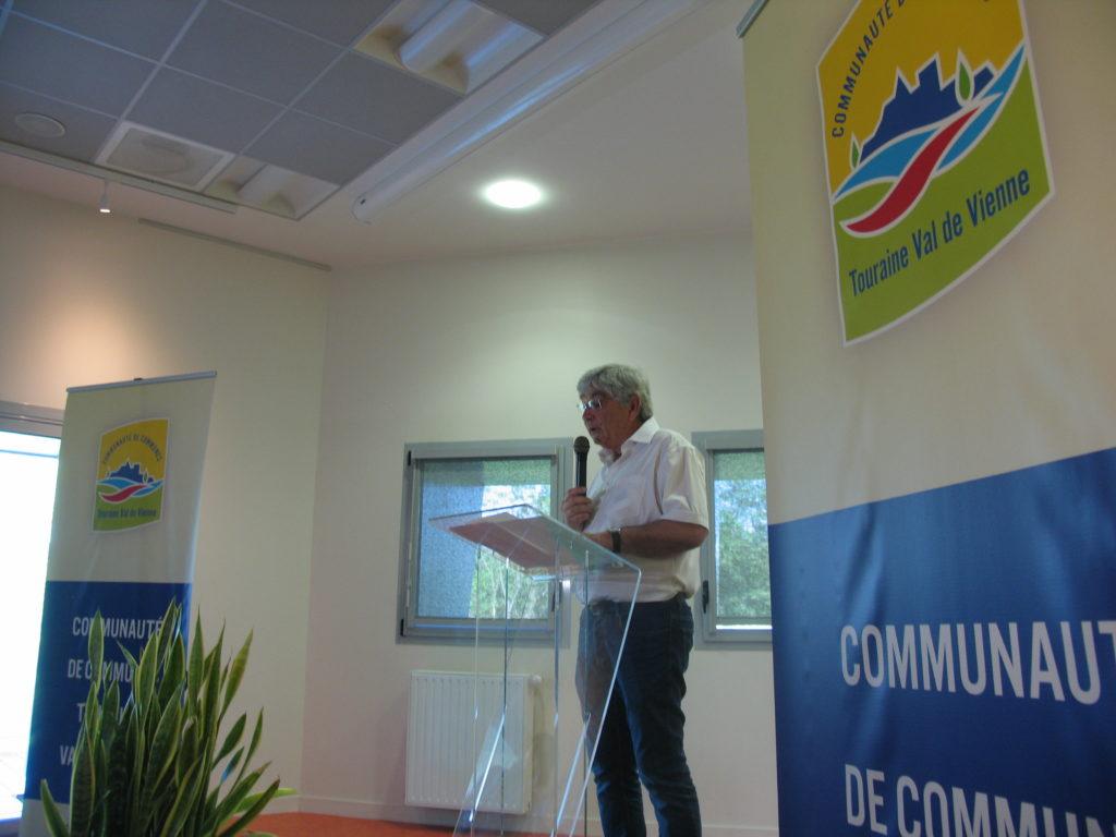 Christant Pimbert Président de la CC Touraine Val de Vienne